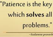 PATIENCE IS KEY TO SUCCESS QUOTES Image Quotes At Relatably.com | Patience  Quotes | Pinterest | Patience, Success Quotes And Quotes Images