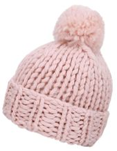 Girls Soft Warm Thick Hat Winter Cap Cable Knit Beanie, Pink – Hat Collection