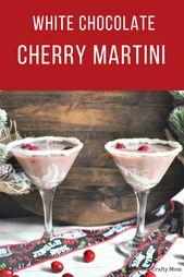How To Make A Decadent White Chocolate Cherry Martini