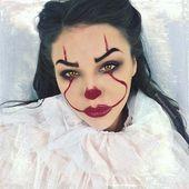 23 trendige Clown-Make-up-Ideen für Halloween 2018 #clown #frisuren #frisurenf