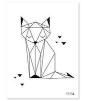Fuchs, Kinderbild, möglicherweise Collage in oran…