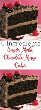 4 Zutaten Super Moist Chocolate Mayo Cake