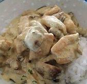 Poulet à la crème et champignons au Cookeo