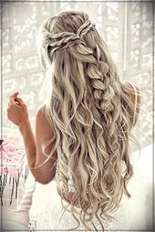 Trend Wavy Hairstyles 2019  #2019wavyhairstyles #hairstyleswithwaves #wavyhairstylestrends #braidedpromhair