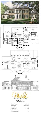Westbury Perspective with Plans | William E Poole – Dream Home