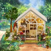 CuteRoom A-063-C Sunshine Greenhouse Flower Shop DIY Dollhouse With Music Cover …