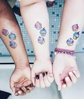 Elegante tattoo for two lovers