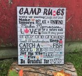 Camping Picture Frame, Family Camping Memory Sign, Camp Rules, Camping Word Art, Cabin Decor, Camper Decor