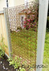 30 Diy Gitter Ideen Fur Ihren Garten Diyselbermachen Diy Diyselbermachen Fur Garten In 2020 Gitter Garten Gartenspaliere Garten Recycling
