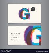 Illustrator Business Card Business card template letter G Royalty Free Vector Image