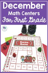 December Math Centers For First Grade – Christmas Activities For Kids