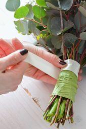 Eukalyptus-Hochzeit – Teil 1: Binden Sie Brautstrauß selbst   – Blumenstrauß hochzeit