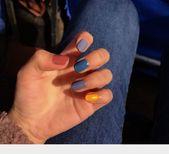 HYL World 24 Pcs Bridal False Nails Frosted Matte …