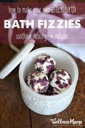 Healing Bath Fizzies Recipe for Postpartum Recovery | Wellness Mama