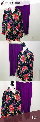 Maggie Sweet 2-teilige Hose und Bluse in Übergröße 1X Maggie Sweet 2-teilige …  – My Posh Closet
