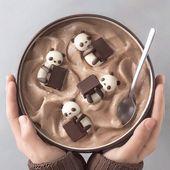 Panda Choco Smoothie Bowl 🐼🍫✨