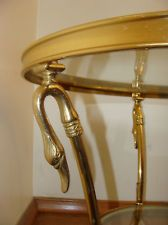 Vintage Hollywood Regency La Barge Swan Ball And Web Table Brass Mid  Century | Hollywood Regency, Regency And Mid Century