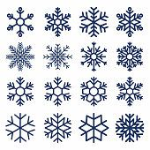 Set of vector snowflakes. Snowflake texture for decoration. Geometric…