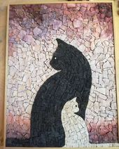 "Instagram'da BBMOSAICI: ""Wedding gift!! #bbmosaici #mosaic #mosaik #cats #cat"