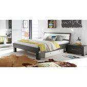 Hasena solid wood bed Caldera, 90×200 cm, acacia gray HasenaHasena