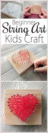 [ad_1] String Art Kids Craft … herzförmig für…