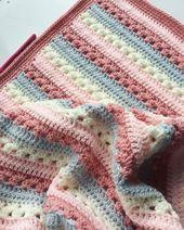 Kostenlose Häkelanleitung für Babydecken für Anfänger 2019 – Handwerk #croch…