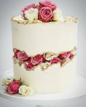 🌹🎂🌹Faultline-Torte von Mary Luzitano #florals #faultlinecakes #caker #c … –  #caker #faultl… – Birthday Cake Flower Ideen