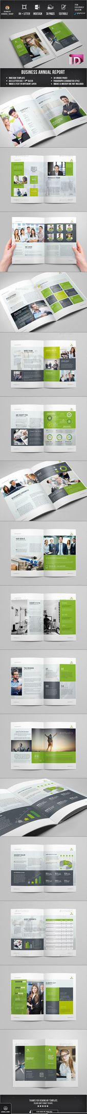 Annual Report InDesign Template by Creative Template on - annual report templates free download