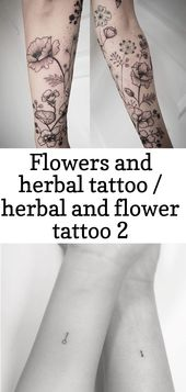 Flowers and herbal tattoo / herbal and flower tattoo 2