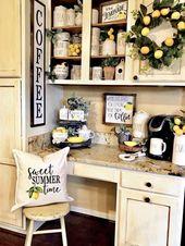 Süße Sommerzeit Zitrone Kissenbezug, Bauernhaus Dekor, Neutral, Zitronen Kissen, Sommer Kissen, Housewarminggeschenk – Home Ideas