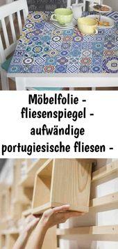 Möbelfolie – fliesenspiegel – aufwändige portugiesische fliesen – möbel klebefolie