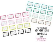 New Year Vision Grid Blocks: Bible Journaling // Printable Stickers // Faith Journaling // Art Journaling