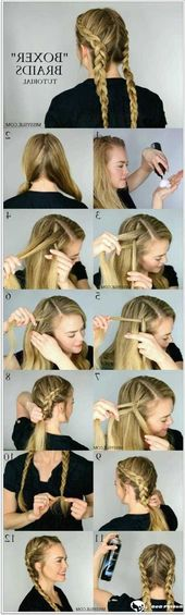 105 Gorgeous French Braids For Her – Long Bob Hairstyles – #Bob # French #Hairstyles # For #Long
