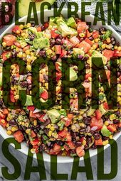 Simple Black Bean and Corn Salad