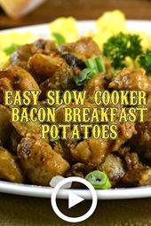 Papas de desayuno de tocino de olla de cocción lenta   – breakfast