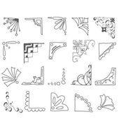 CLIP-ART: Süße Bildecken // handgezeichnet – Papierblume Hintergrund Hochzeit   – Paper Hand