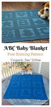 Baby Blanket Alphabet Afghan Baby Blanket Free Knitting Pattern #startknittingfreepattern #ba...