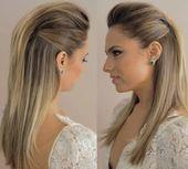 Frisuren für glattes, langes, lockeres und lockeres Haar