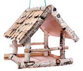 Rustikales Vogelhäuschen aus Holz zum Aufhängen …