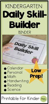 Kindergarten Daily Skill Builder Notebook