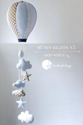 Hot Hair Balloon, Baby Mobile by Jo handmade design