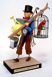 Pvc figurine plastoy tintin kuifje Hergé 1994 haddock with his sword and hat