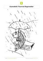 Ausmalbild Fisch Bei Regenwetter Kostenlose Ausmalbilder Ausmalbilder Ausmalen