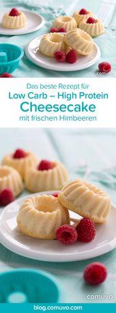 Kleine Low Carb High Protein Käsekuchen mit frischem Beeren und ganz ohne …  – comuvo –Blog über Fitness, Ernährung, Gesundheit und Trainingstipps