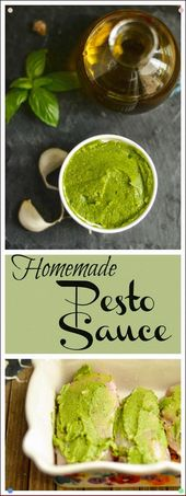 Homemade Pesto Sauce – I Use This Recipe With My Popular Baked Pesto Chicken #Gl…