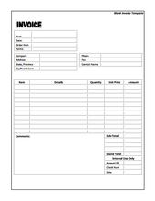 Free Blank Invoice Template For Excel Invoice Template Word