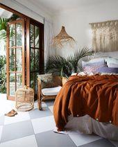 8 einfache Ideen zum Erstellen eines atemberaubenden Boho-Schlafzimmerstils #ate… – Schlafzimmer ideen