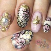 Mermaid Nails : Mermaid Nails Inspiration: 35 Mermaid Nail Art Designs | #Mermai…