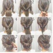 Easy Updos For Medium Hair #hair #hairstyles #easyhairstyles #weddinghairstylesformediumhair