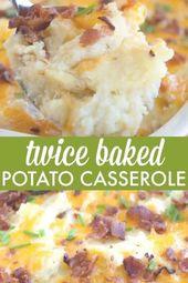 Cazuela de papas al horno dos veces: comida reconfortante fácil y deliciosa que a su familia le encantará …   – comfort food